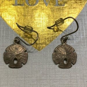 5 for $10 jewelry sale silver sand dollar earrings